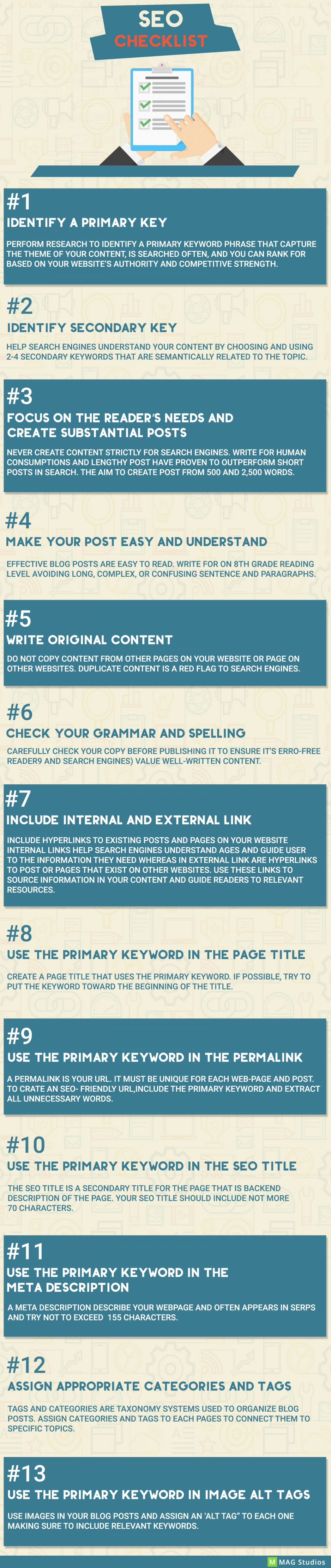SEO CHECKLIST TO CHANGE YOUR RANKING GAME!