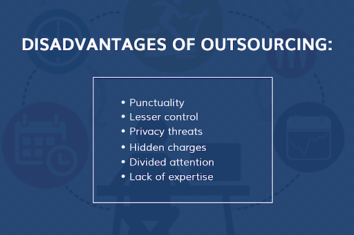disadvantages of outsourcing